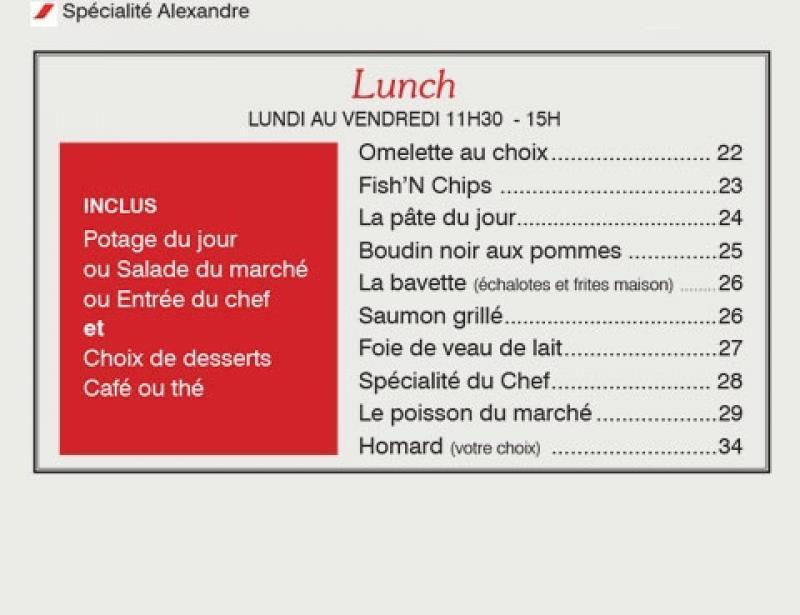 Montreal Restaurant Alexandre